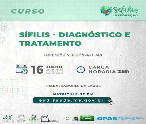 curso sífilis, diagnóstico e tratamento.